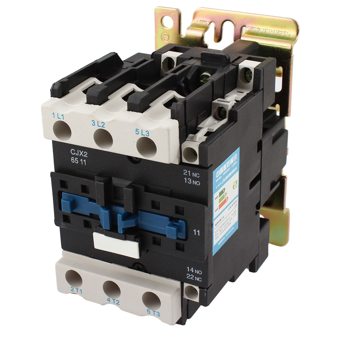 CJX2-6511 660V 80A 220V Coil Voltage 35mm 75mm DIN Rail Mounting 3-Phase 6 Screw Terminals 1NO 1NC AC Safety Electric Circuit Control Power Contactor