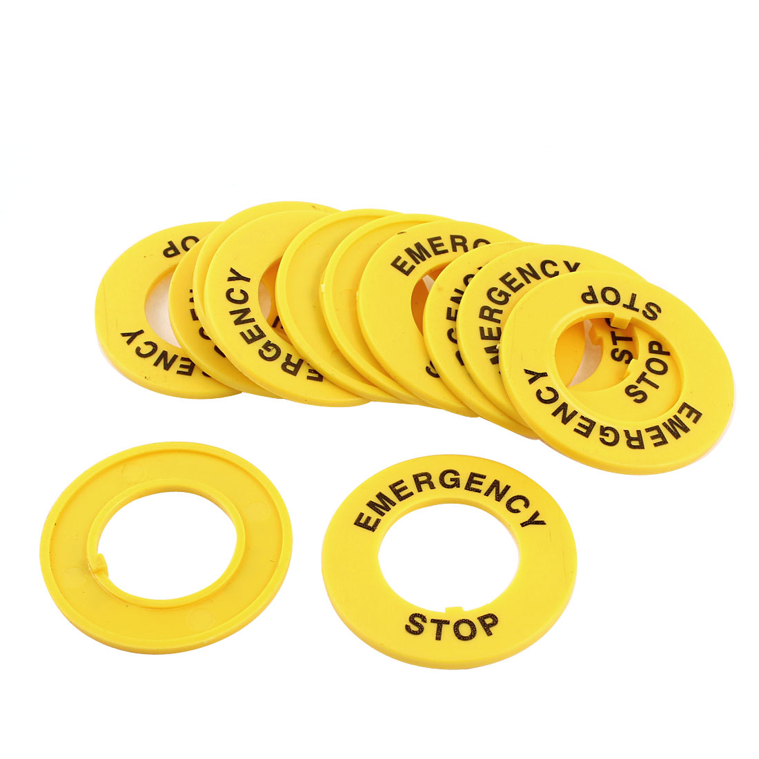 12 Pcs Round 22mm Dia Cutout Push Button Switches Safeguard Cover Yellow