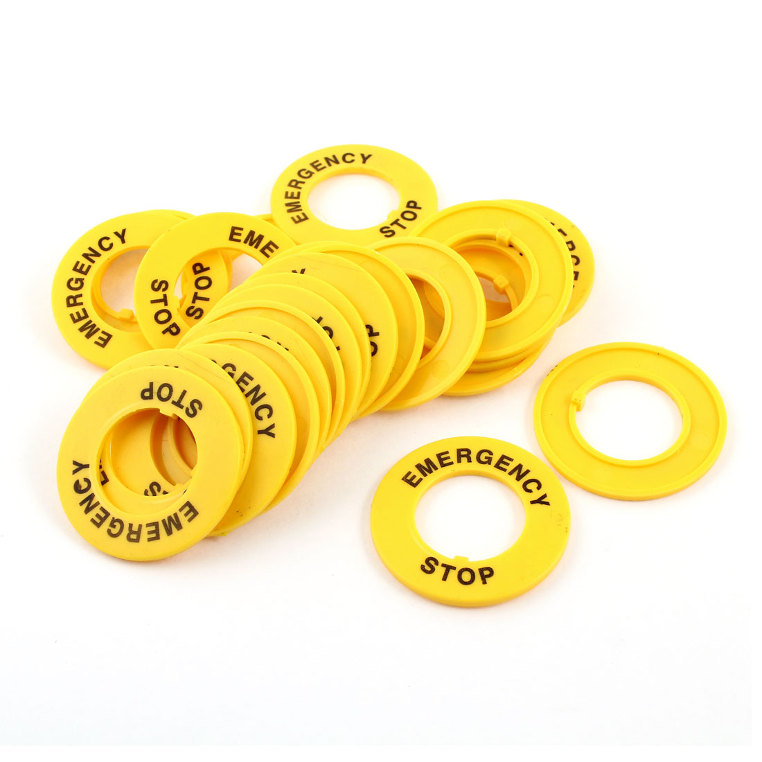 24 Pcs 22mm Dia Cutout Yellow Plastic Round Protective Case for Push Switch Button