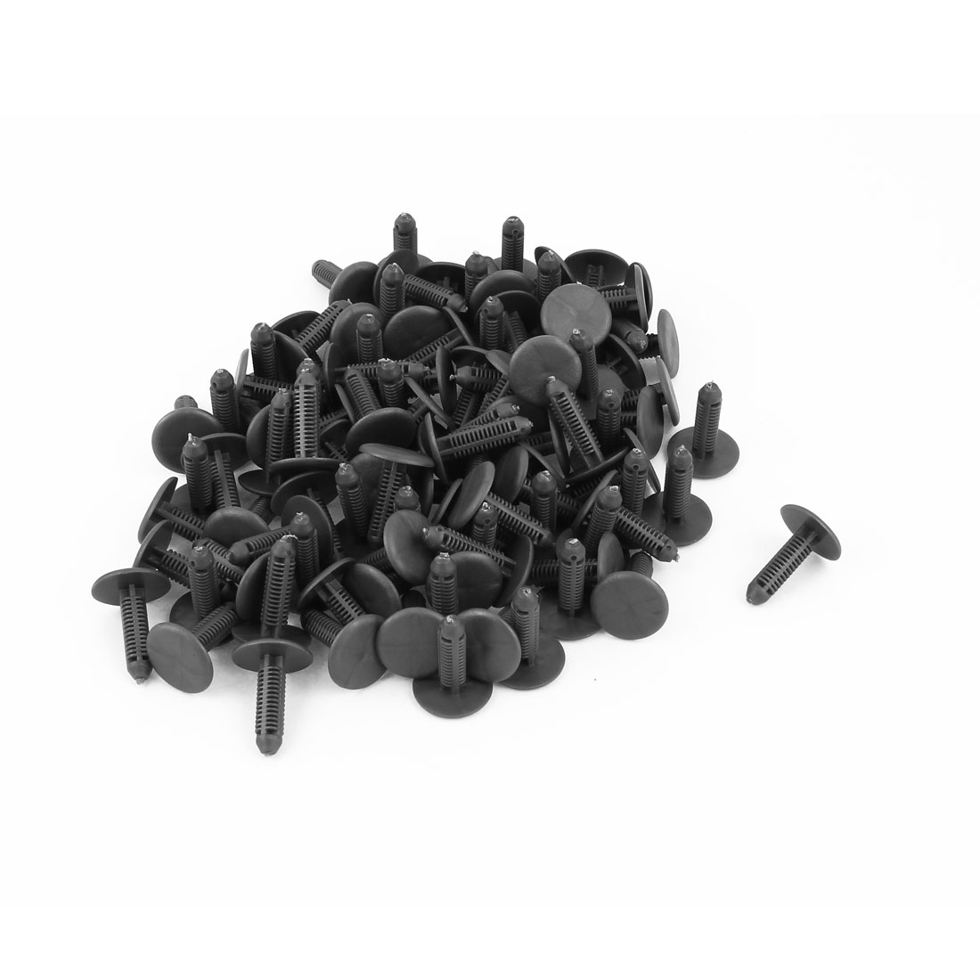 100 PCS 6mm Hole Plastic Push Screw Rivet Panel Fixings Clips Gray for Car Auto