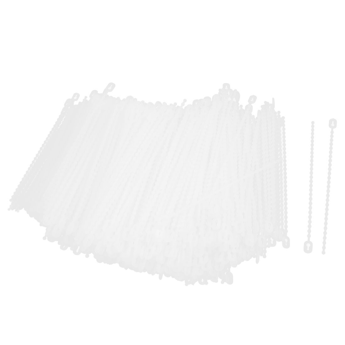 1000Pcs 2.5mm x 100mm Self-Locking Plastic Wrap Cable Loop Ties White