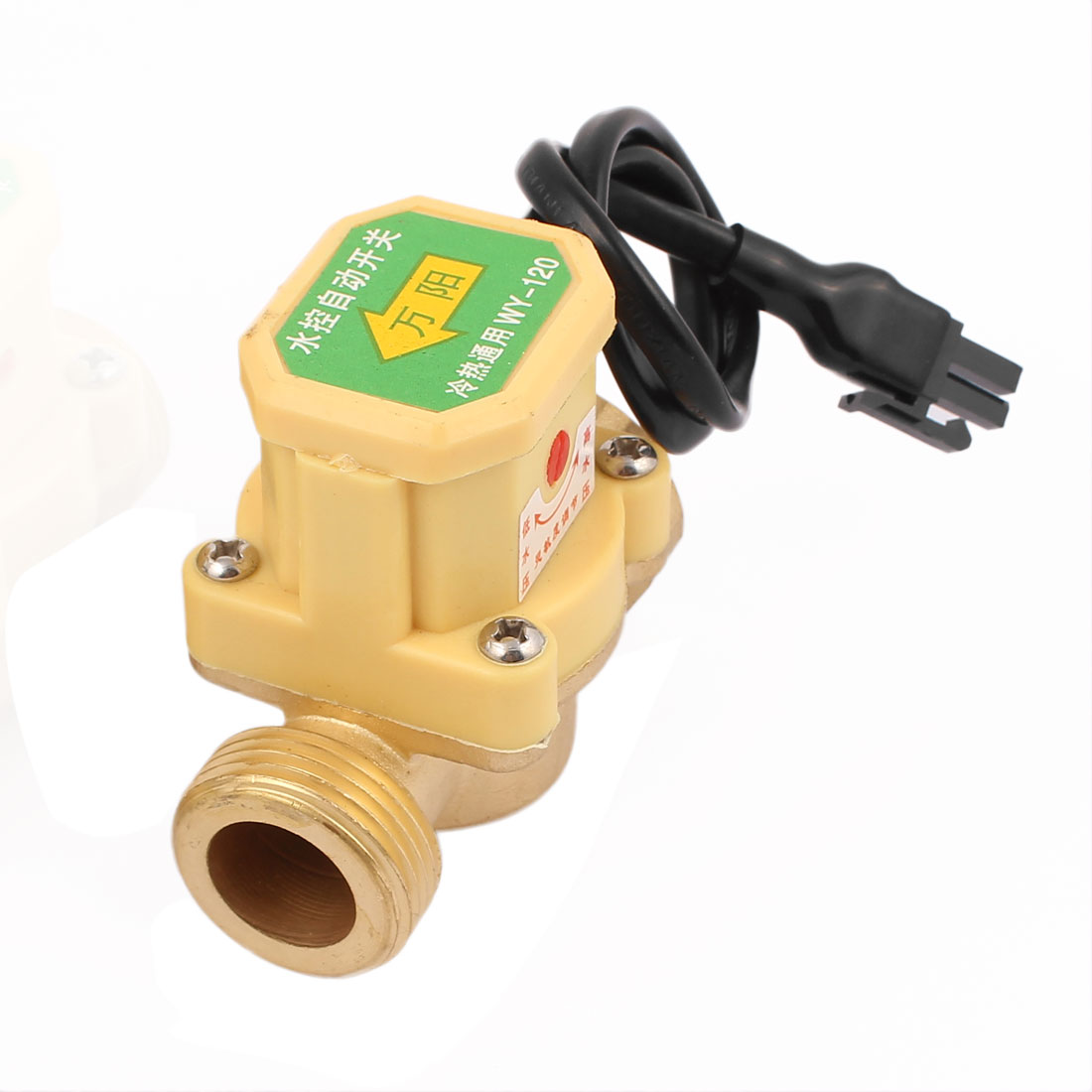 120W Power 30.5mm Female to 26mm Male Thread Circulation NO Pump Water Heater Flow Sensor Switch