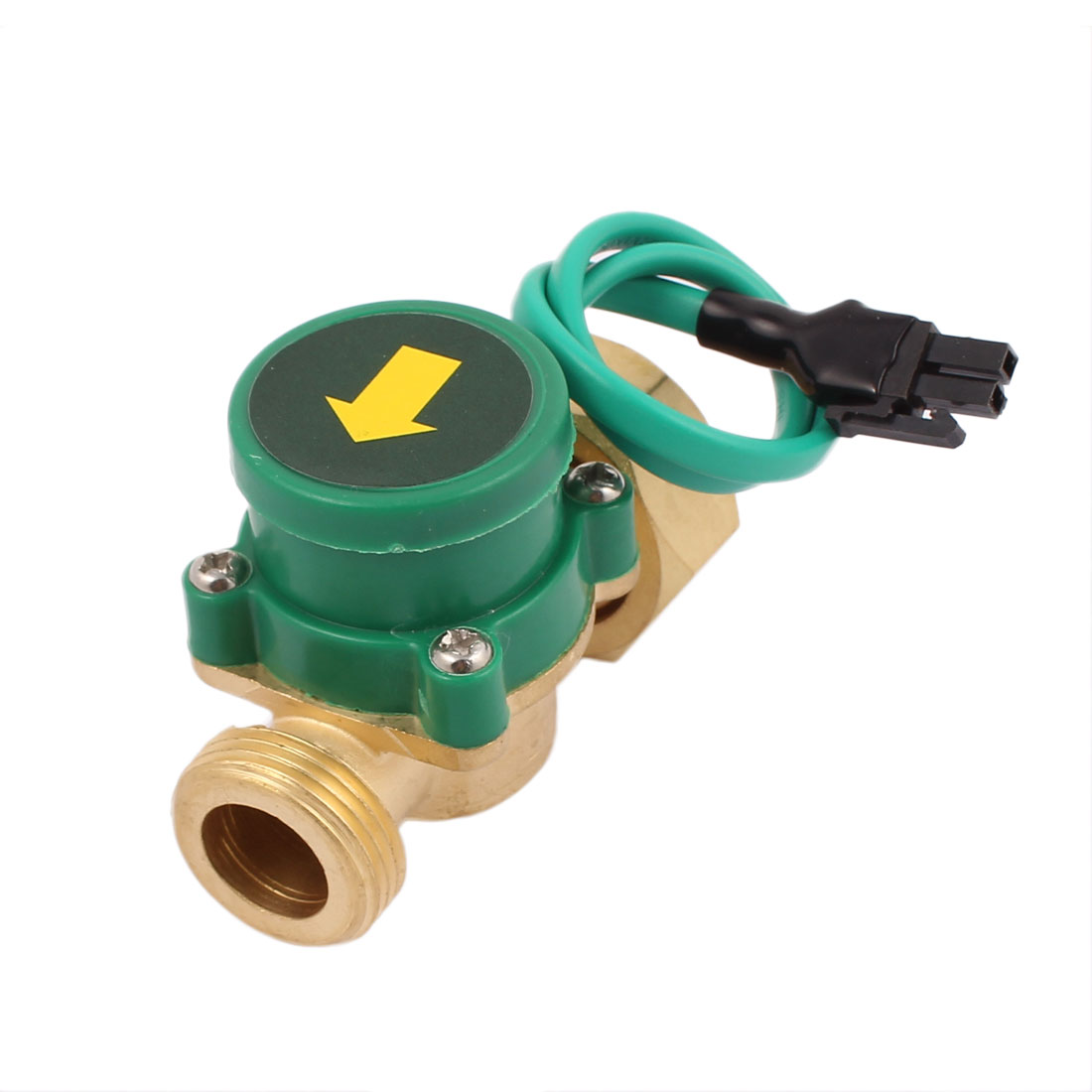 260W Power 26mm Female to 26mm Male Thread Circulation NO Pump Water Heater Flow Sensor Switch