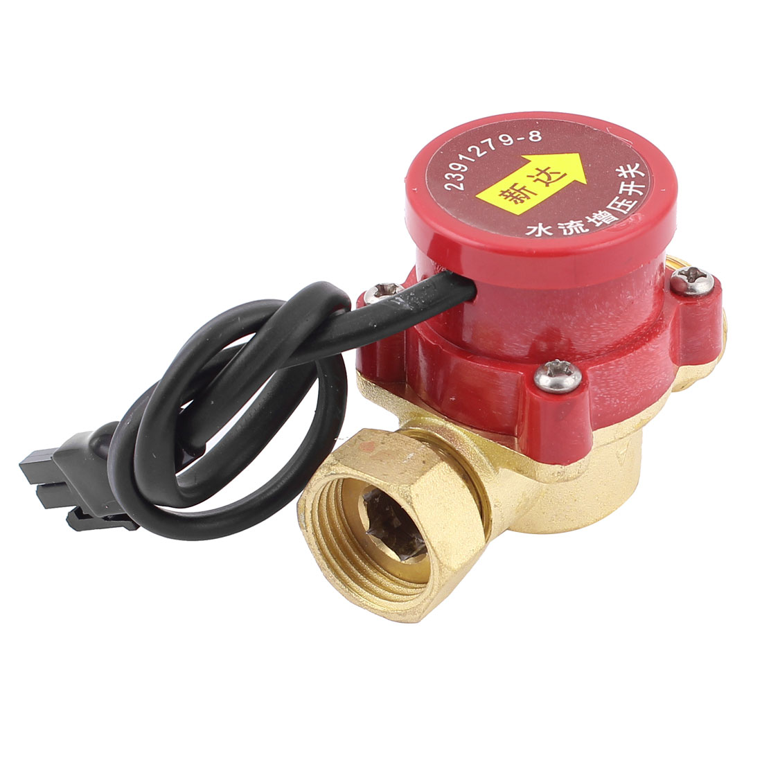 120W Power 21mm Female to 21mm Male Thread Circulation NO Pump Water Heater Flow Sensor Switch