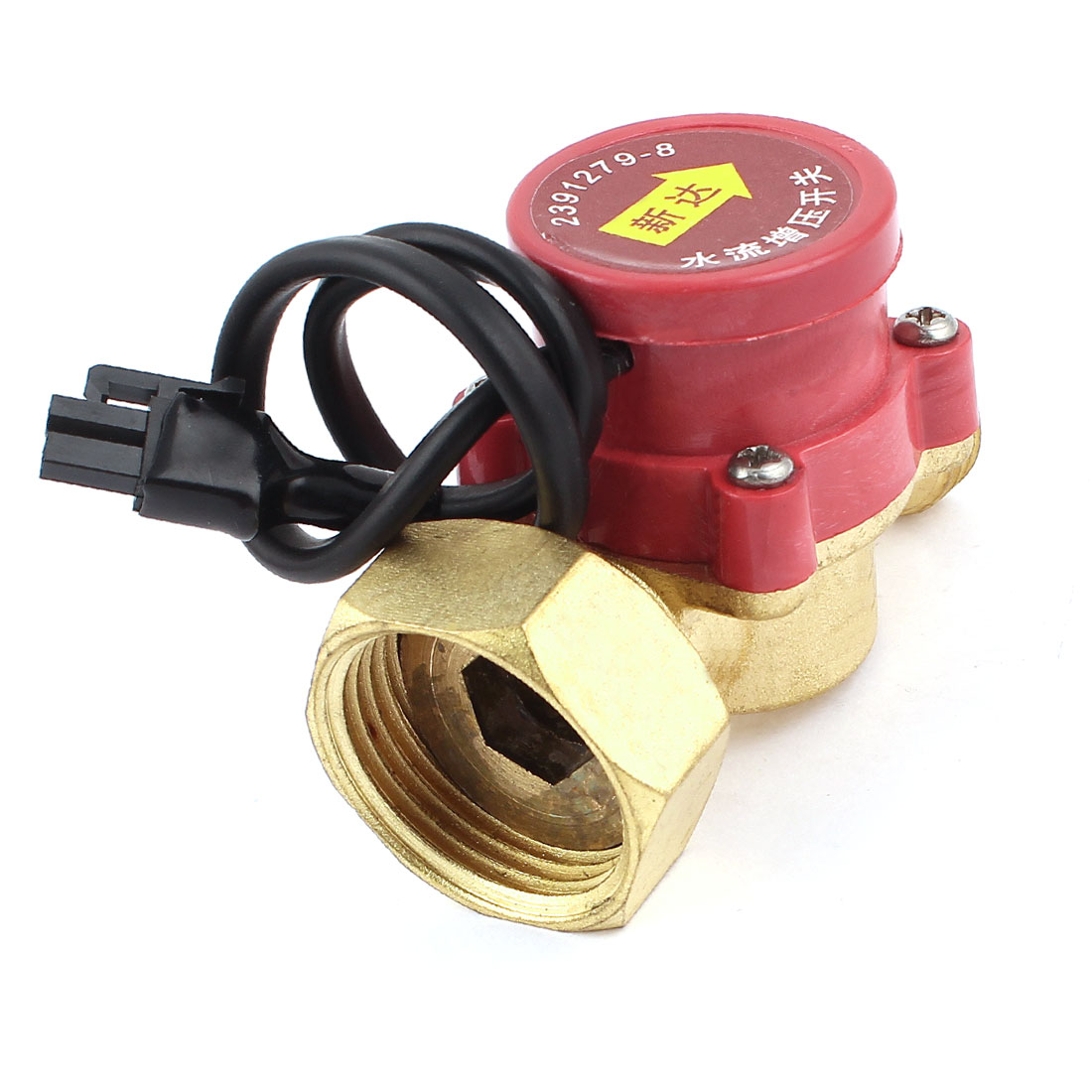 260W Power 32mm Female to 21mm Male Thread Circulation NO Pump Water Heater Flow Sensor Switch