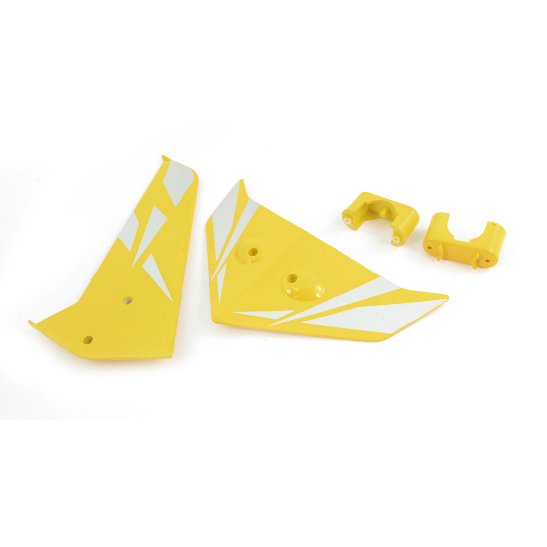 RC Model Plane DIY Assembly Fin Tail Decoration Yellow for Syma S033G Helicopter