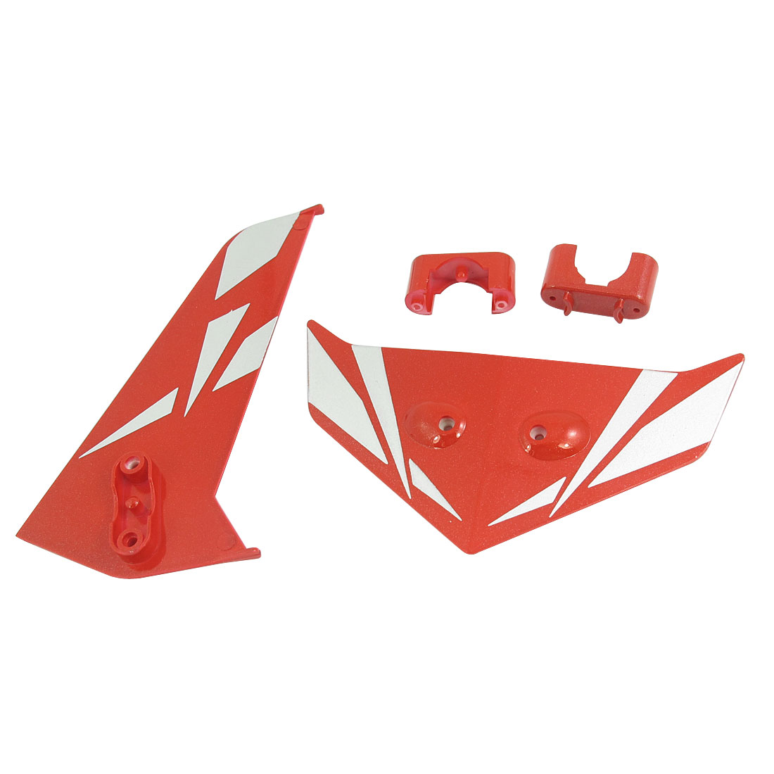 DIY Assembly Fin Tail Decoration Red for RC Model Syma S033G Helicopter Plane