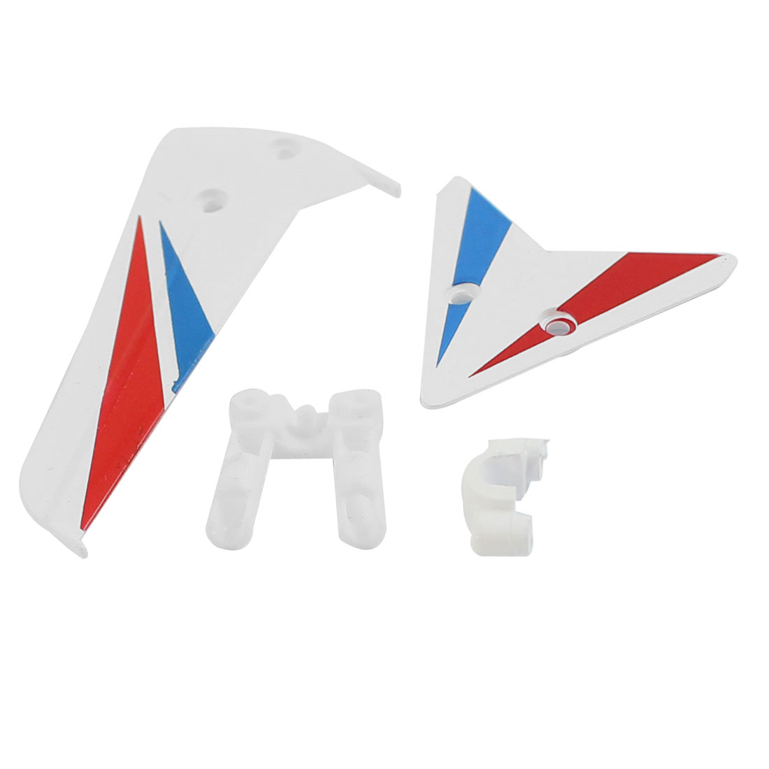 DIY Assembly Fin Tail Decoration White for RC Model Syma S800G Helicopter Plane