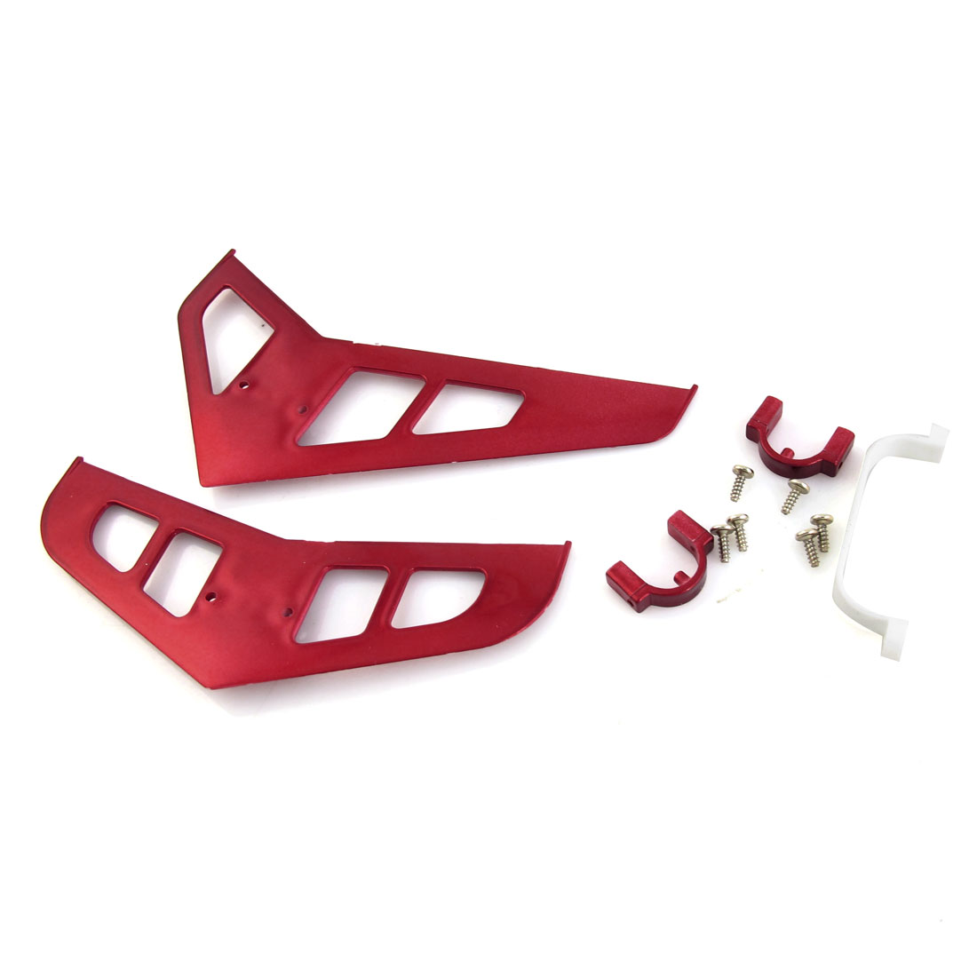 Red Plastic DIY Fin Tail Decoration for RC Model DH 9050 Aircraft Helicopter