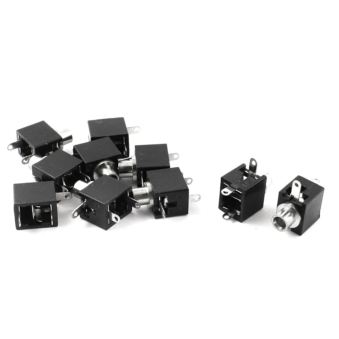 10Pcs 3 Terminal 3mm Female Audio Jacks Socket for Headset Earphone