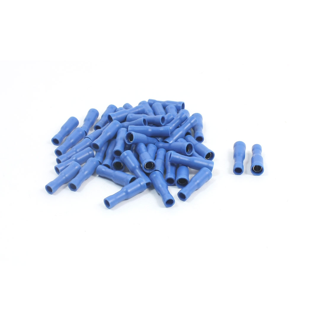 50Pcs 16-14 AWG FRD2-156 Blue PVC Sleeve Insulated Cable Terminals Crimp