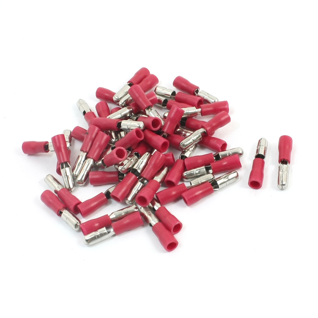 50Pcs 22-16 AWG MPD1-156 Red PVC Sleeve Insulated 4mm Cable Terminals Crimp