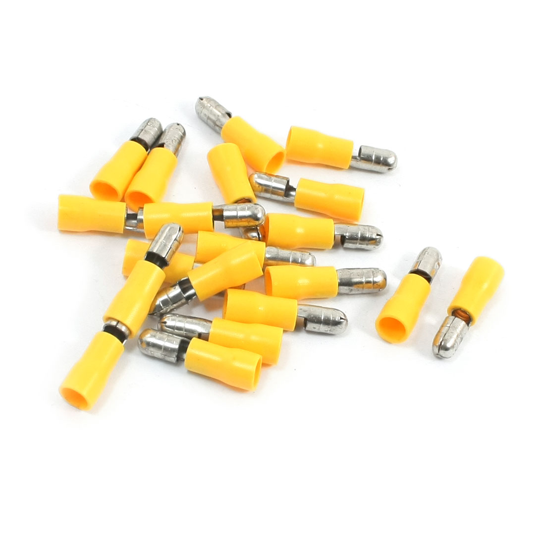 20Pcs 12-10AWG MPD5-195 Yellow PVC Sleeve Insulated 5mm Cable Terminals Crimp