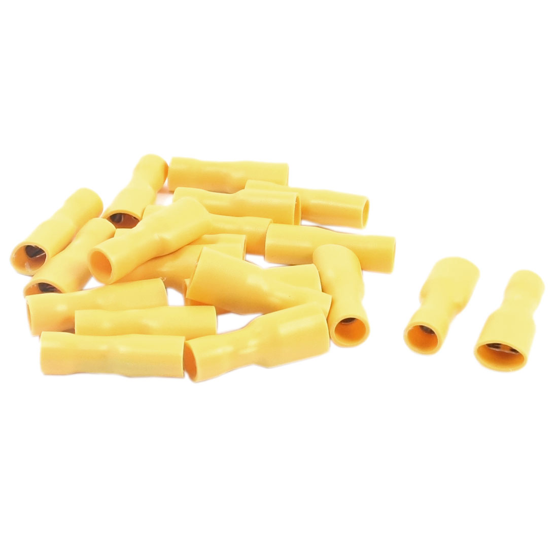 20 Pcs 12-10 AWG Yellow PVC Sleeve Fully Insulated Crimp Terminals Cable Connector