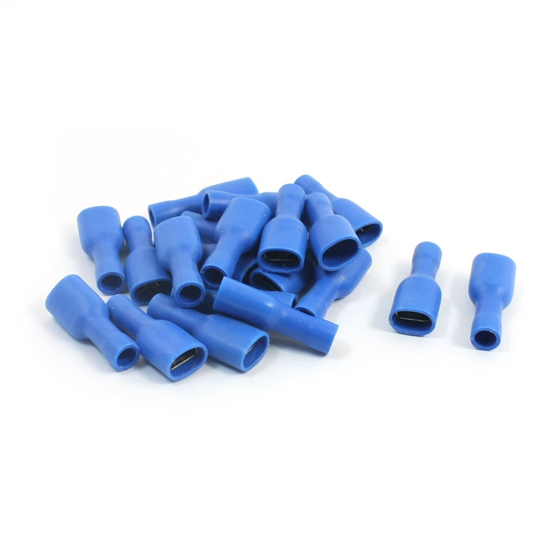 20Pcs 16-14 AWG FDFD2-250 Blue PVC Sleeve Insulated Cable Terminals Crimp