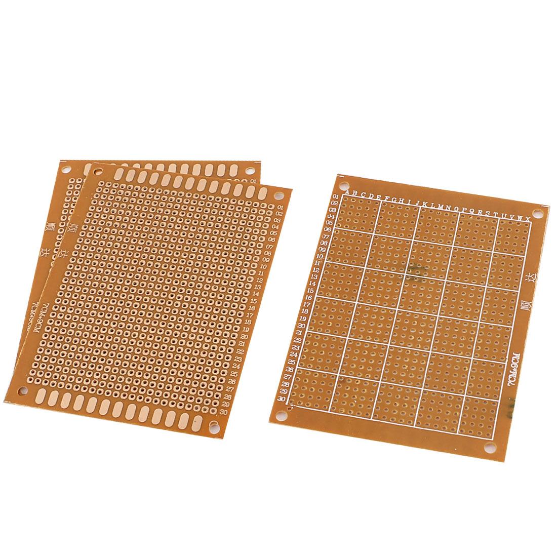 3 Pcs Universal Single Side DIY Prototype PCB Board 7cmx9cm