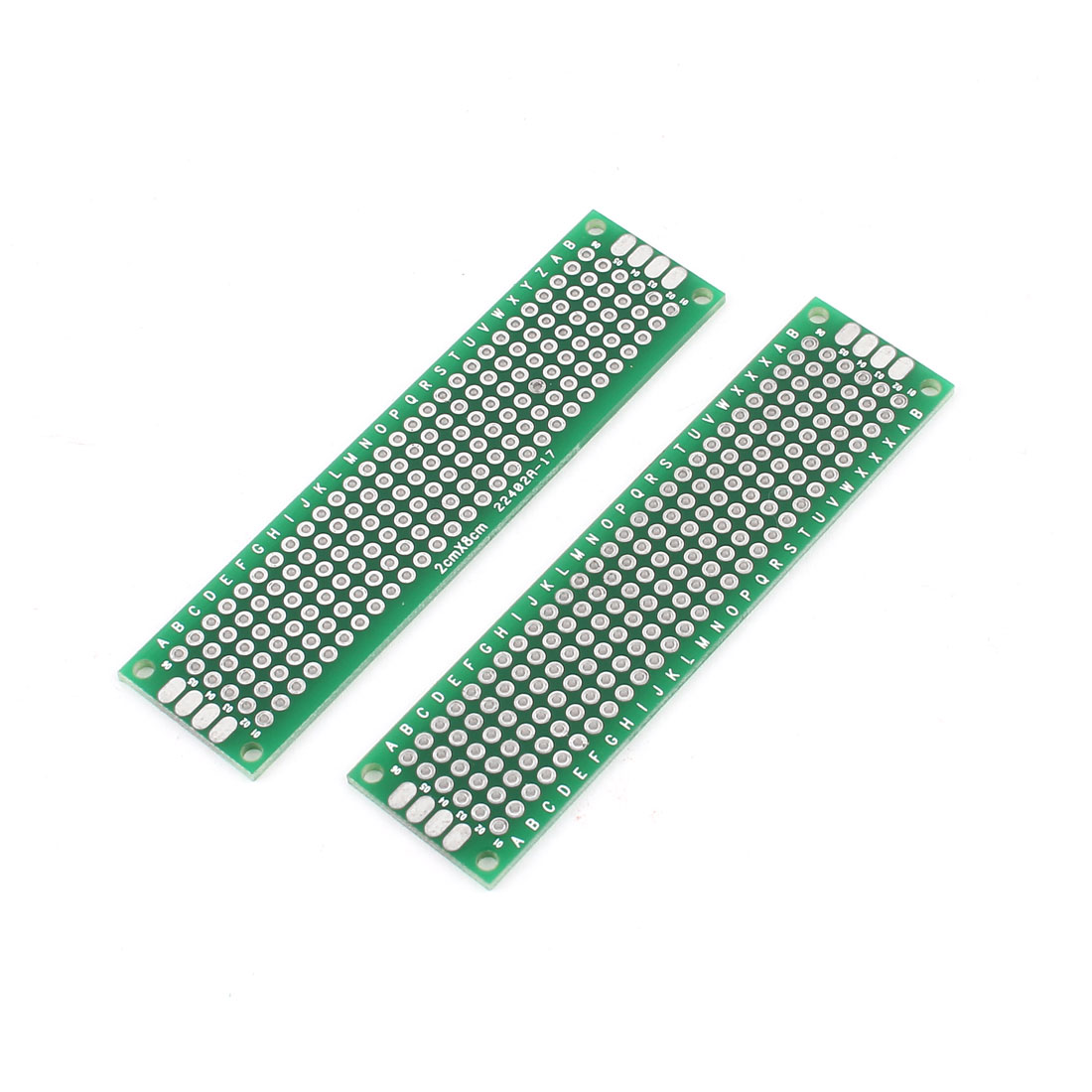 2 Pcs Universal Dual Side DIY Prototype PCB Board 2cmx8cm