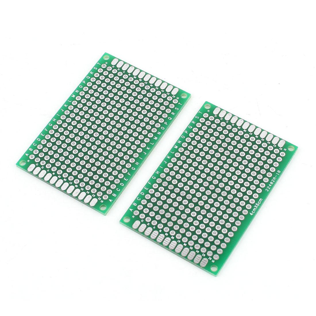 2 Pcs Universal Dual Side DIY Prototype PCB Board 4cmx6cm
