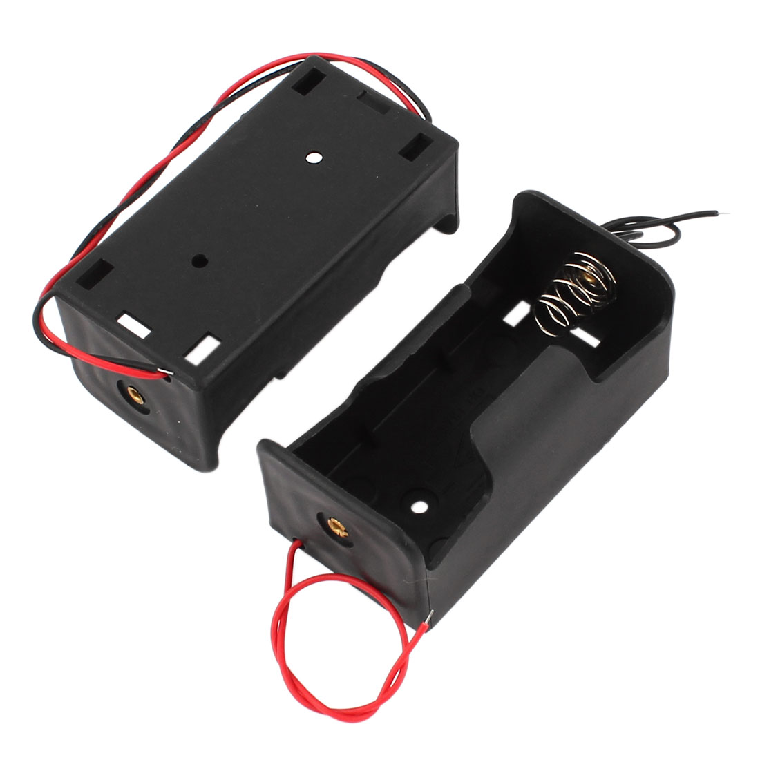 2pcs Flat Tip 1.5V Battery Holder Case Box Holder for 1 x D Battery