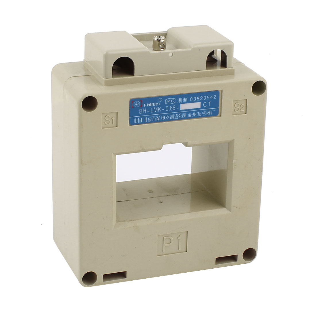 Meter Gauge 0.66KV 5/3.75VA 50/60Hz 600/5 Ratio CT Current Transformer Beige