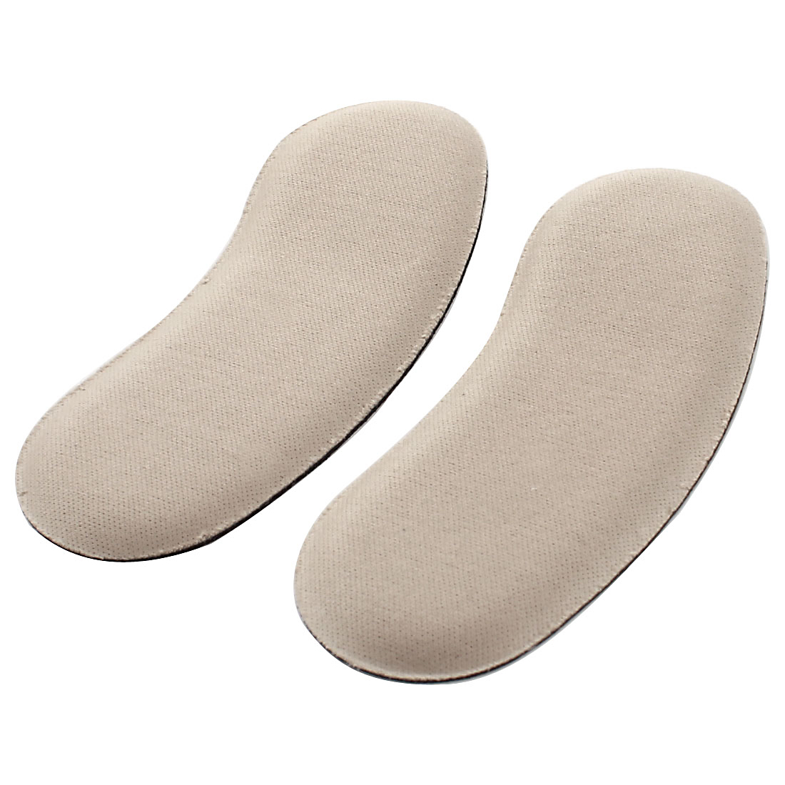 Pair Khaki Nylon Self Adhesive High Heel Shoes Insoles Back Pads for Women