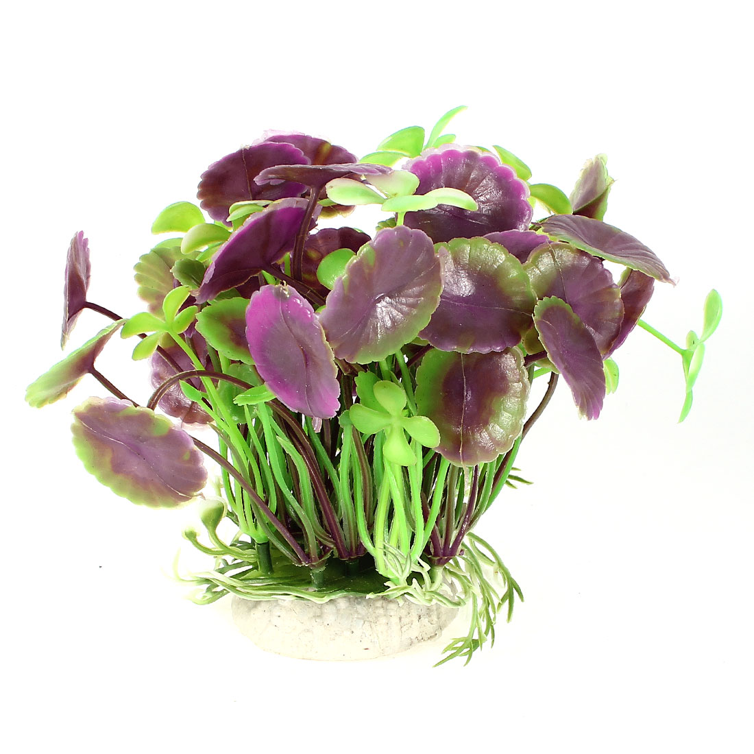 12cm Height Manmade Green Purple Grass Plant for Fish Tank Aquarium