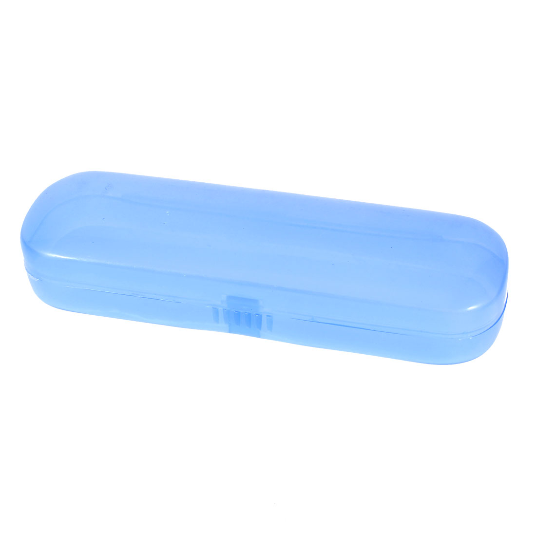Rectangle Design Plastic Eyeglasses Spectacles Case Storage Box Clear Blue