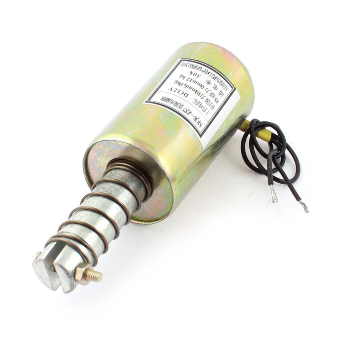 DC 12V 10mm 6.0Kg Solenoid Electromagnet w Spring Plunger MQ8-Z57