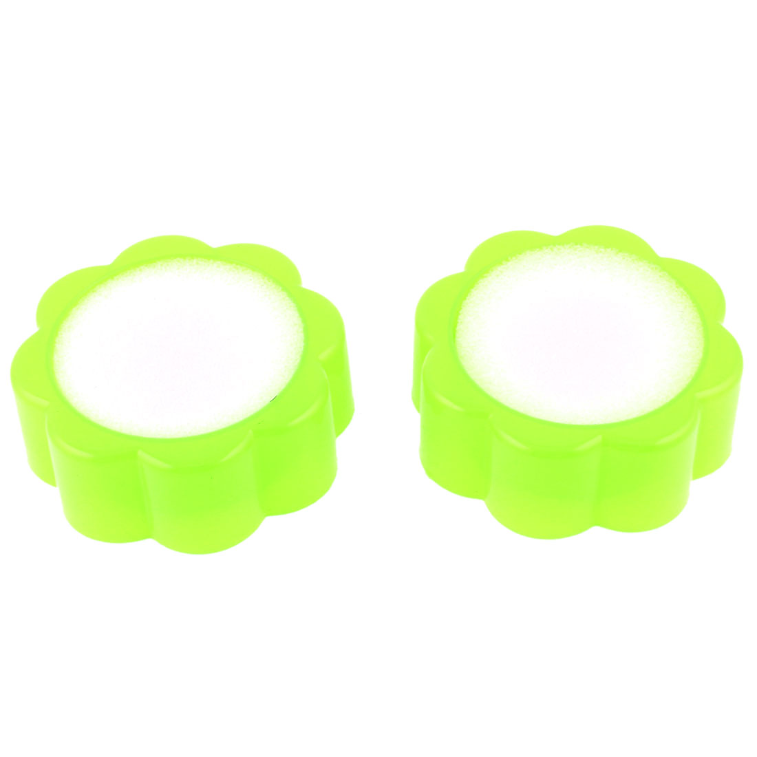 Plastic Housing Flower Shaped Finger Wet Device Light Green 2 Pcs