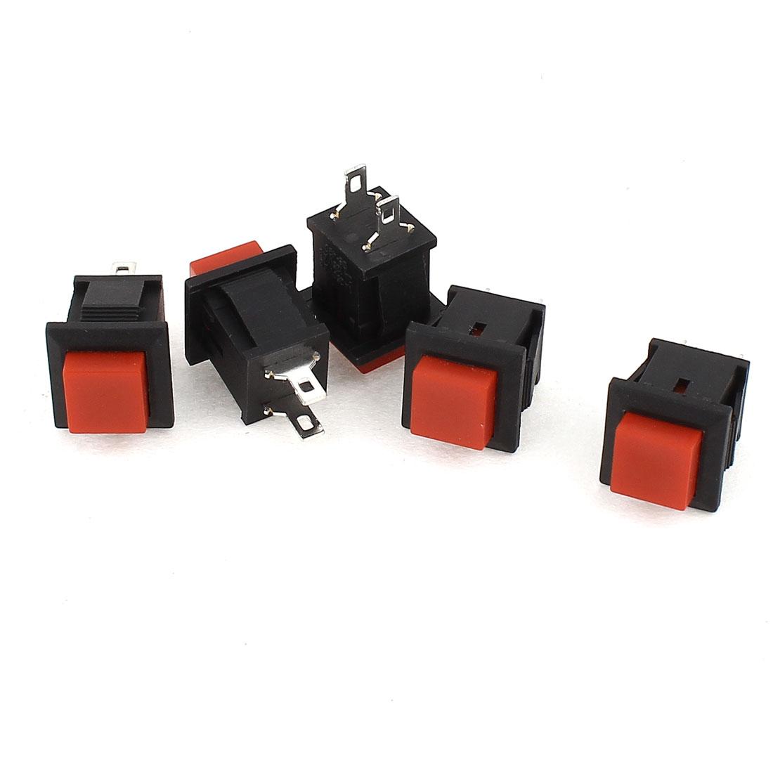 AC 250V/1A 125V/2A SPST Momentary Push Button Switch 5 Pcs