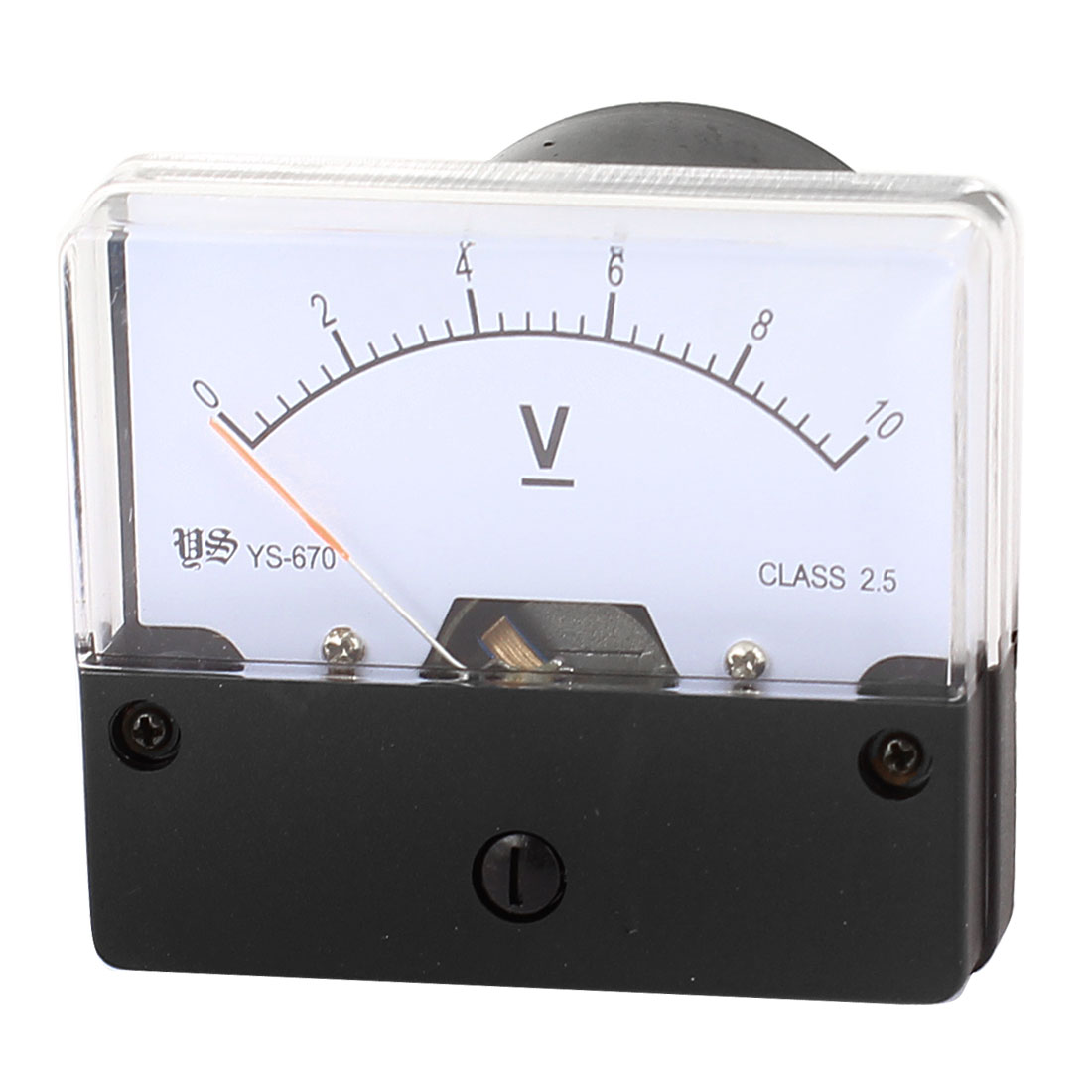 White Black Plastic Panel Gauge Voltmeter Voltage Meter DC 0-10V for Lab