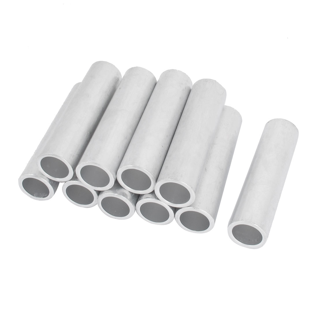10PCS 23mm Inner Dia Straight Passing Through Aluminum Connecting Tube