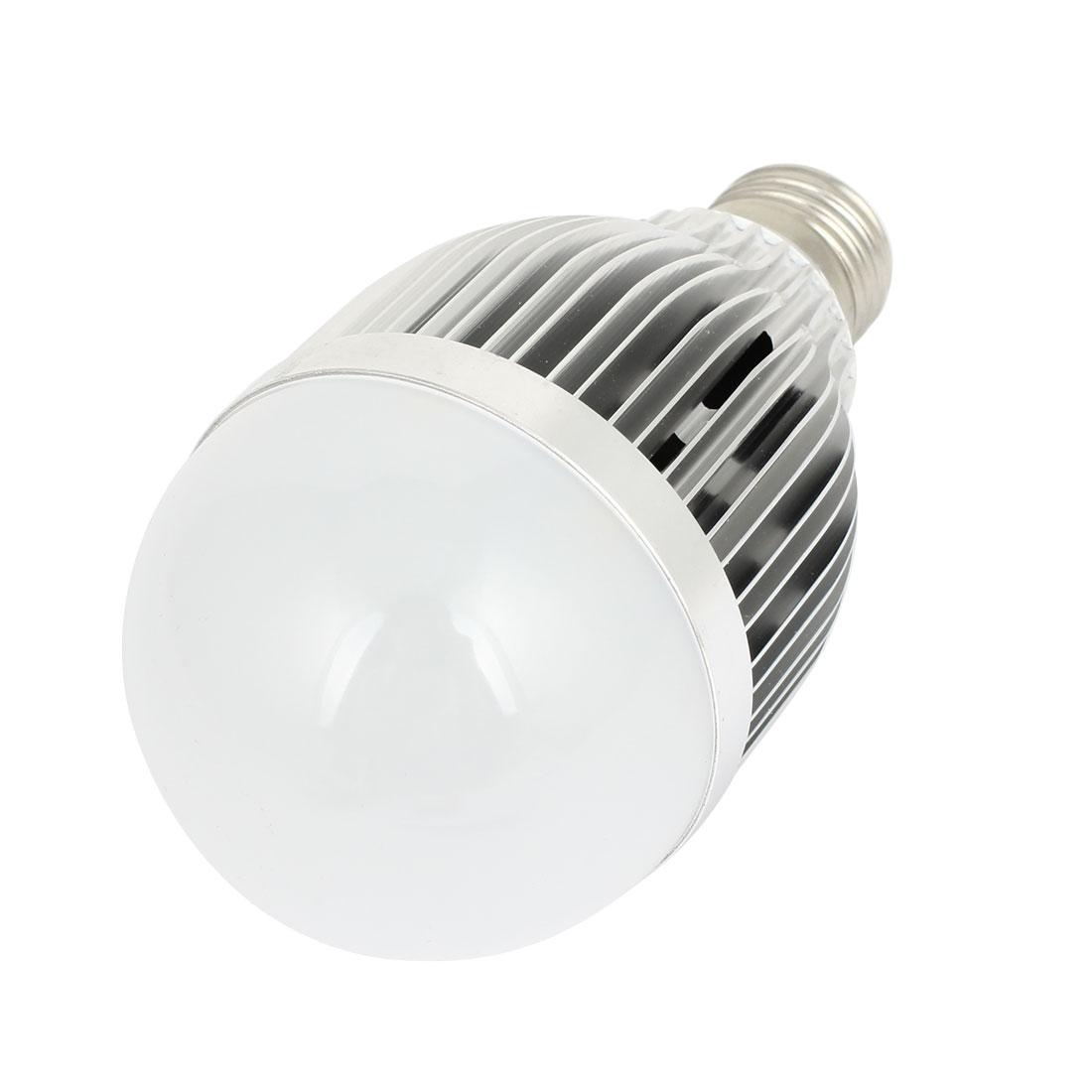 AC 220V 9W 5500-6500K Pure White 18 LED E27 Screw Base Energy Saving Globe Bulb