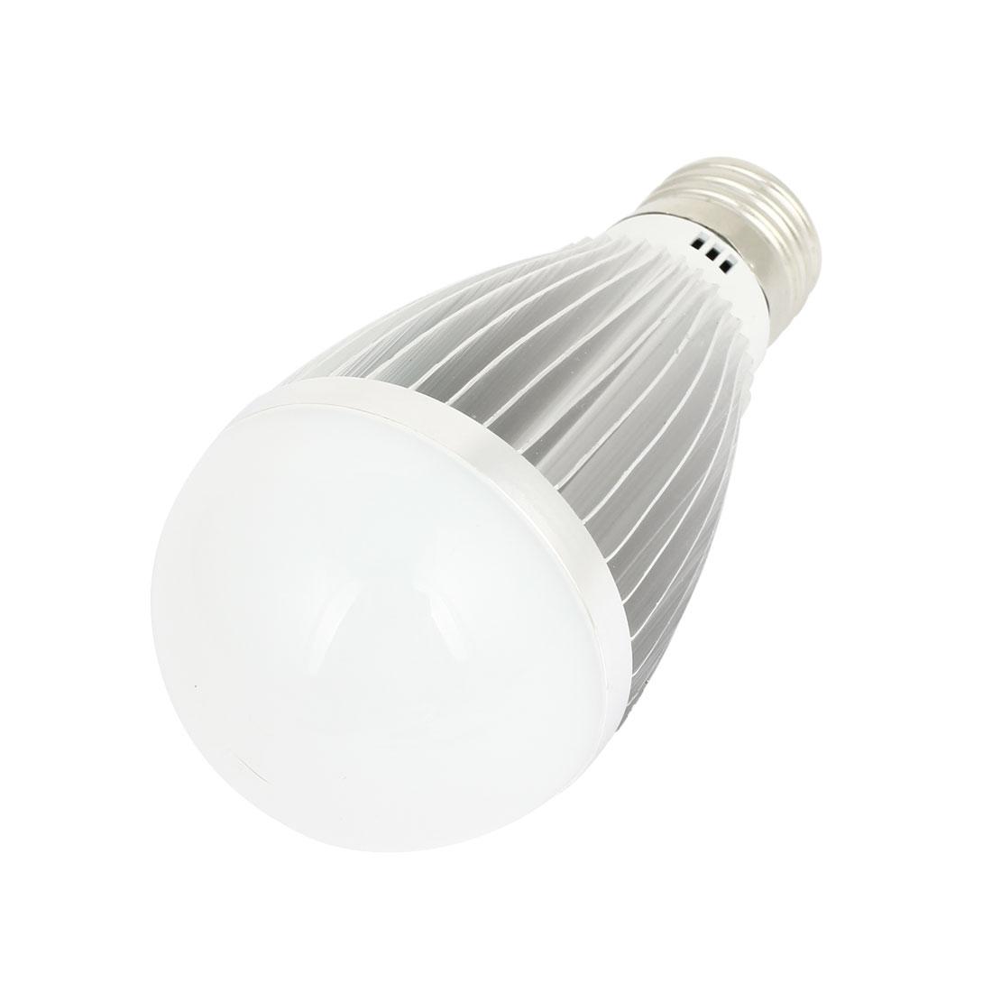 AC220V 7W 5500-6500K Pure White 14 LED E27 Screw Base Energy Saving Globe Light