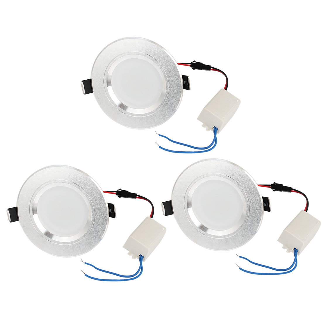 3pcs Pure White 6-LED Recessed Cabinet Ceiling Down Light Lamp AC90V-260V 3W