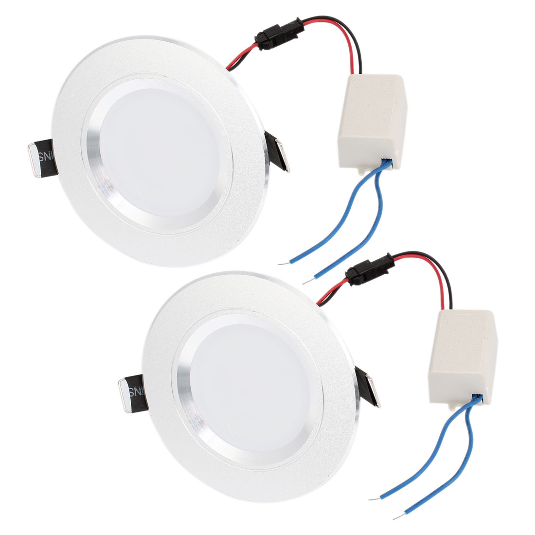 3W 6 LEDs Recessed Ceiling Downlight Pure White Energy Saving Spot Lamp 2 Pieces