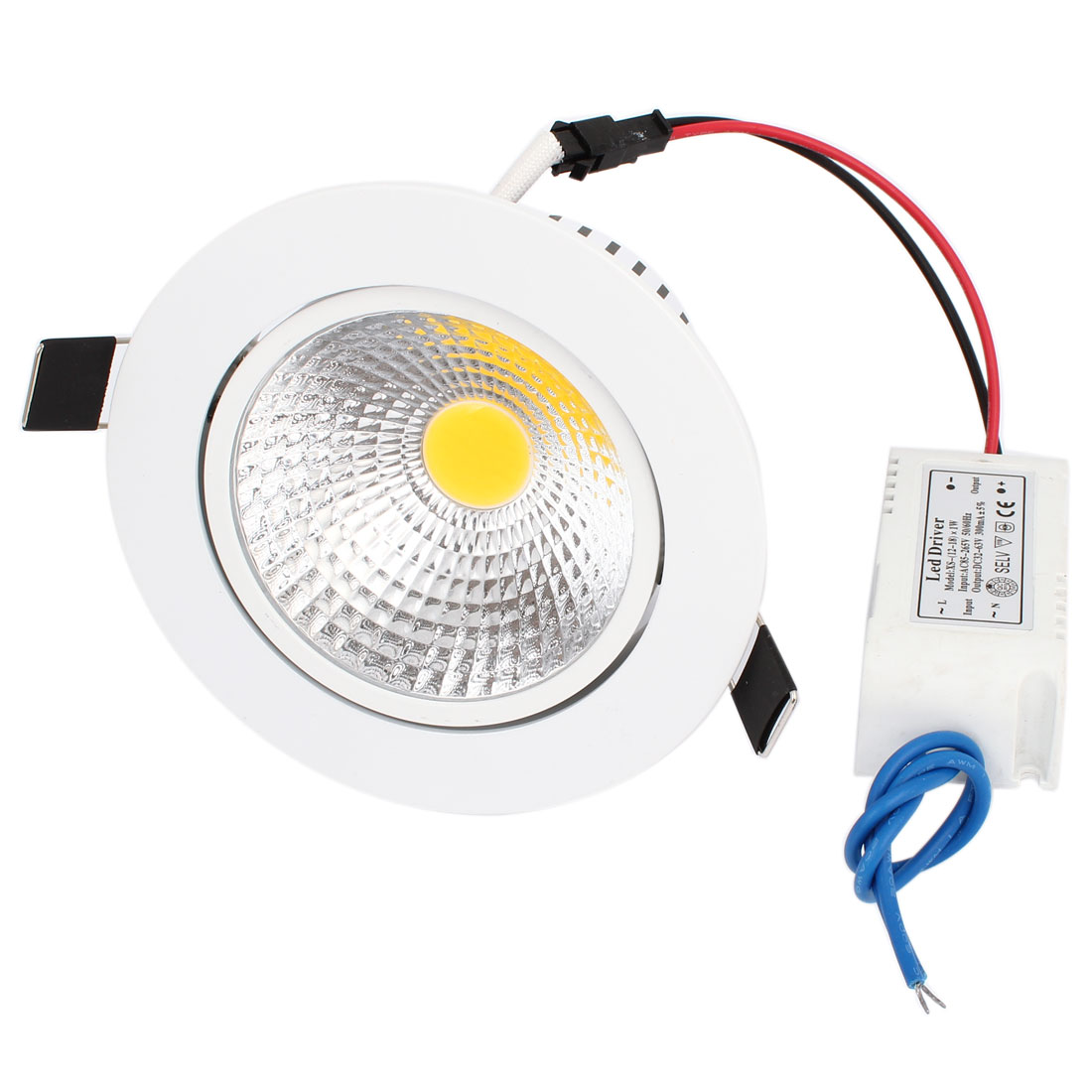 120LM 15W COB LED Recessed Ceiling Downlight Warm White Energy Saving Bulb