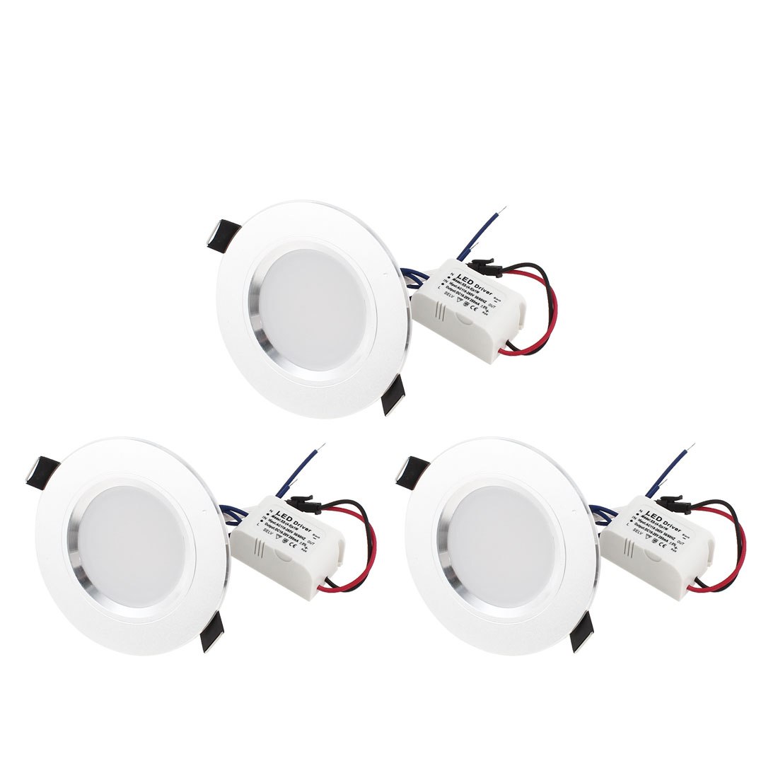 AC 110-265V 5W High Power Warm White Light Ceiling Downlight Lamp 3 Pcs