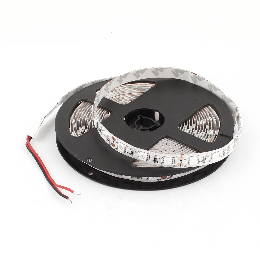 5m 5050 SMD 300LEDs Adhesive Backing Green LED Flexible Light Strip
