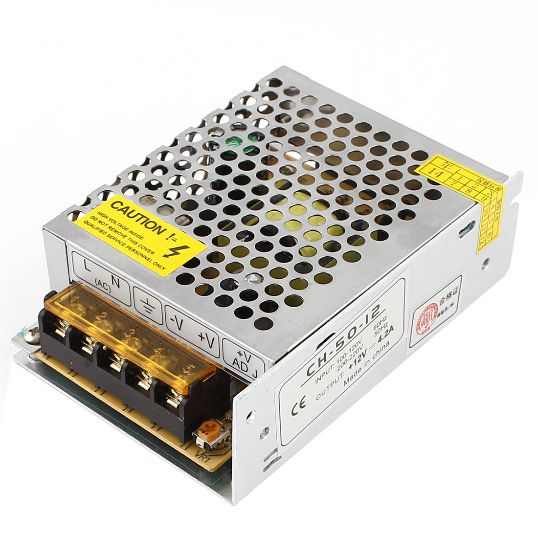AC 100-120V to DC 12V 4.2A 50W Switching Power Supply Adapter for LED Strip Light