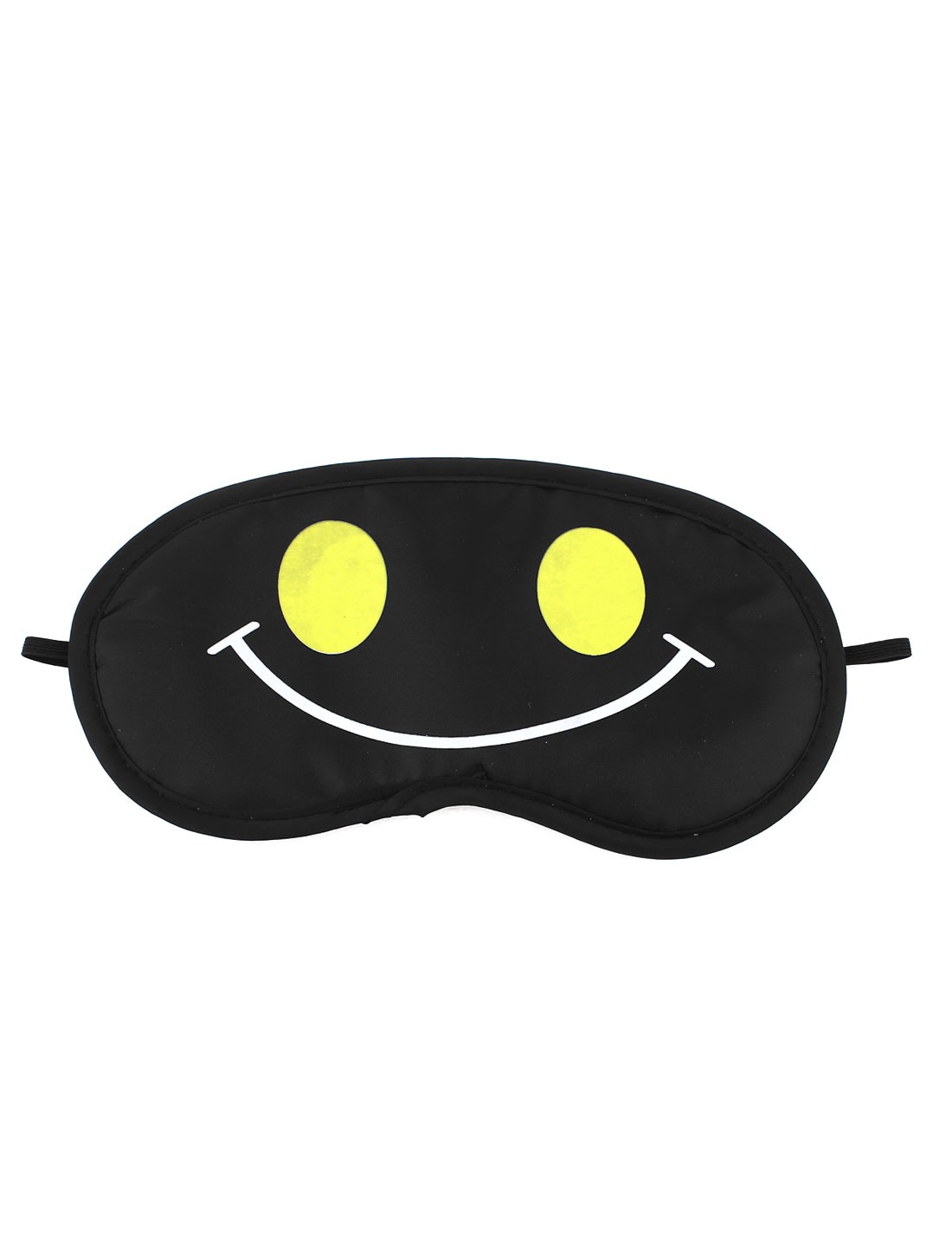 Travel Sleep Blindfold Smile Face Pattern Eyepatch Eye Mask Black