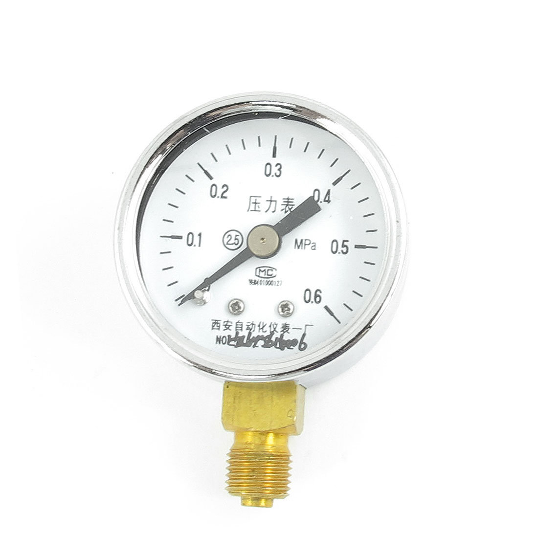 Silver Tone Case 1/8PT Male Threaded 0-0.6Mpa Pneumatic Air Pressure Gauge