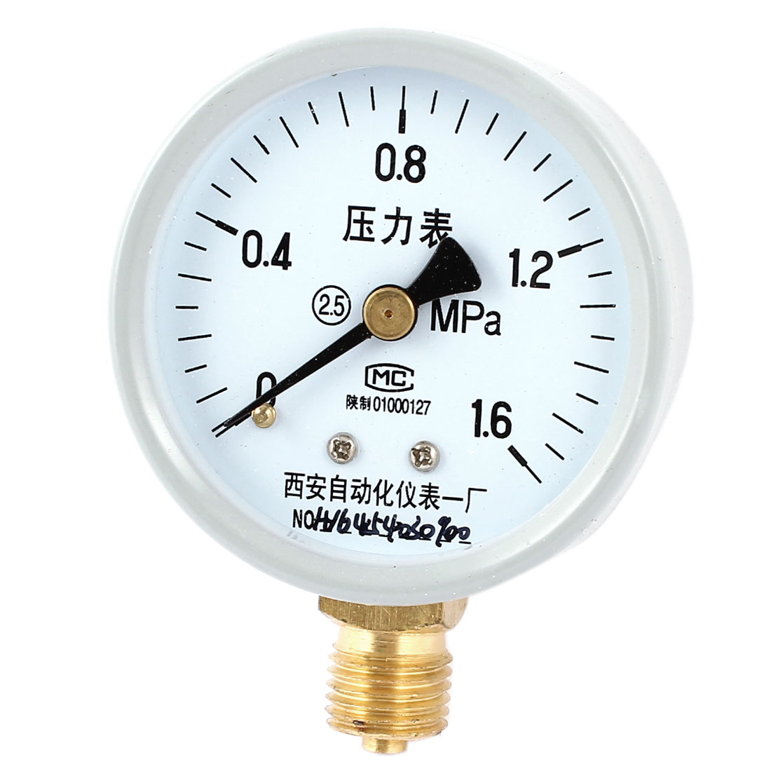 52mm Dial 1/4PT Male Threaded 0-1.6Mpa Pneumatic Air Pressure Measuring Gauge