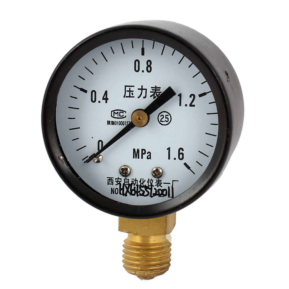 45mm Dial 1/4PT Male Threaded 0-1.6Mpa Pneumatic Air Pressure Measuring Gauge