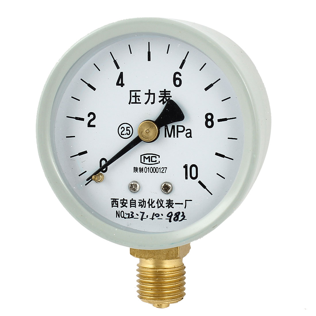 52mm Dial 1/4PT Male Threaded 0-10Mpa Pneumatic Air Pressure Measuring Gauge