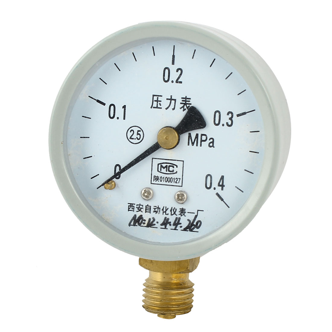 52mm Dial 1/4PT Male Threaded 0-0.4Mpa Pneumatic Air Pressure Measuring Gauge