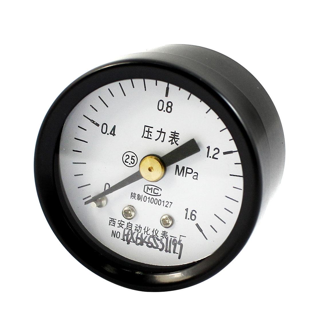 1/8PT Threaded 0-1.6Mpa Arabic Number Dial Pneumatic Air Pressure Gauge