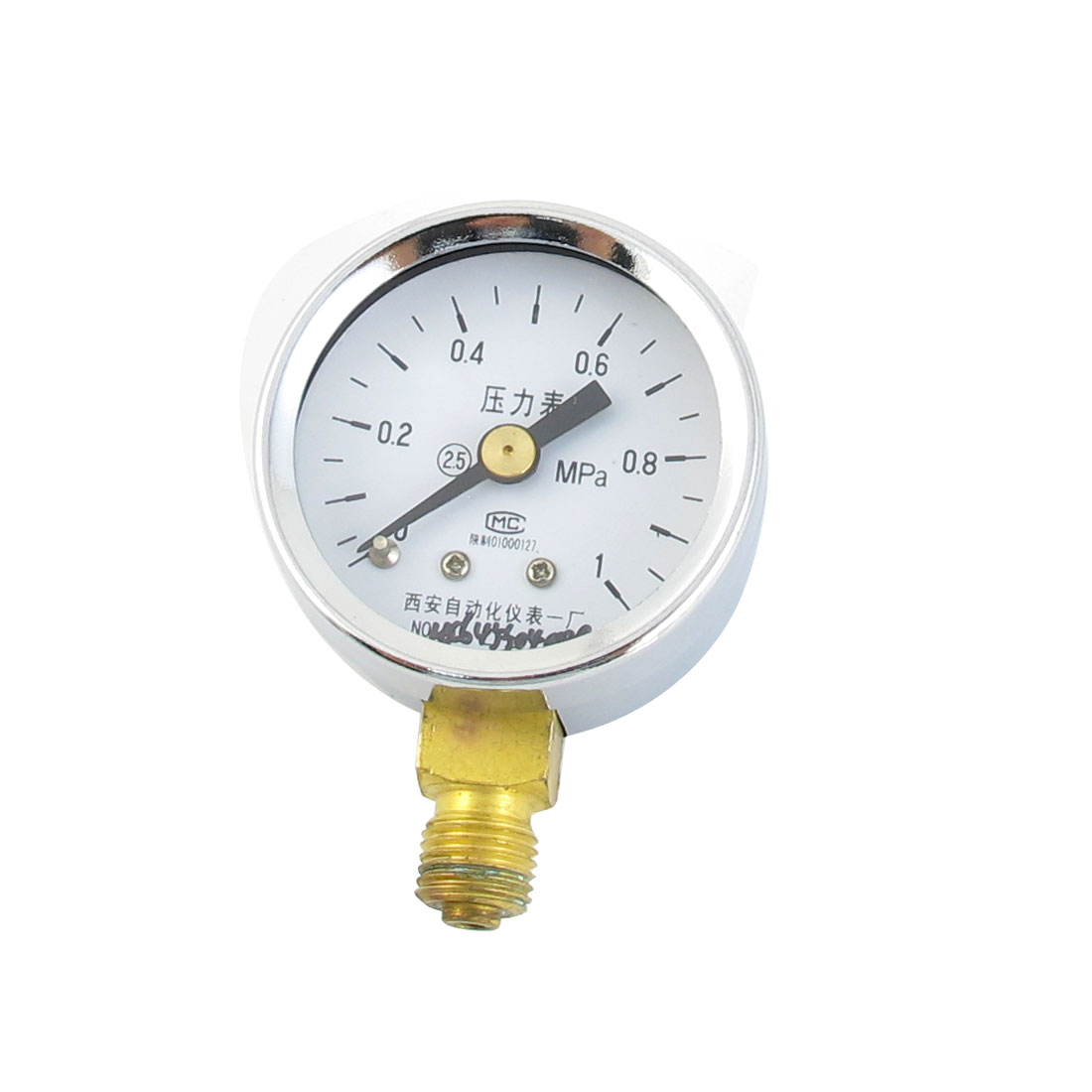 Silver Tone Case 1/8PT Male Threaded 0-1Mpa Pneumatic Air Pressure Gauge