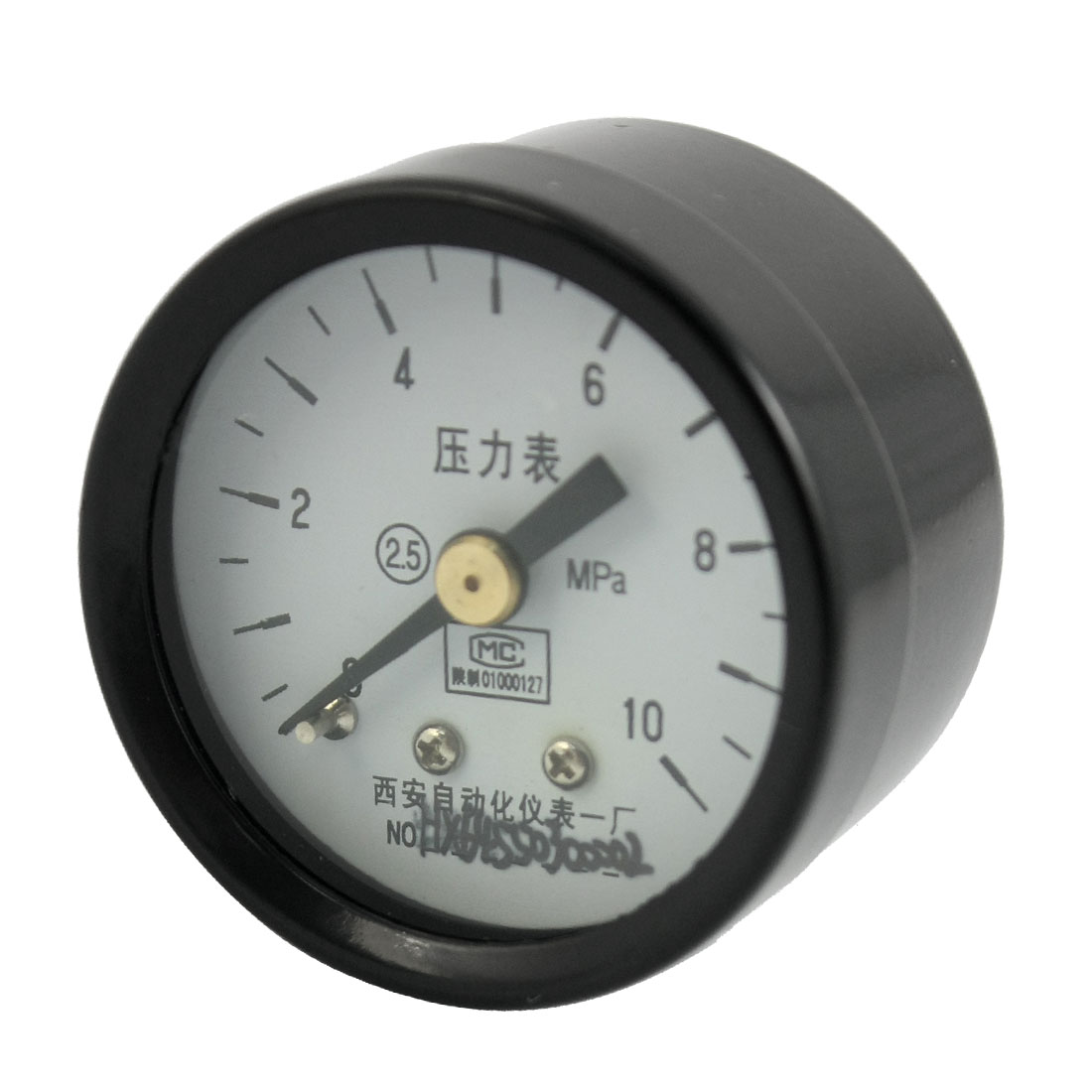 Black Case 1/8PT Threaded 0-10Mpa Arabic Number Display Pneumatic Air Pressure Gauge