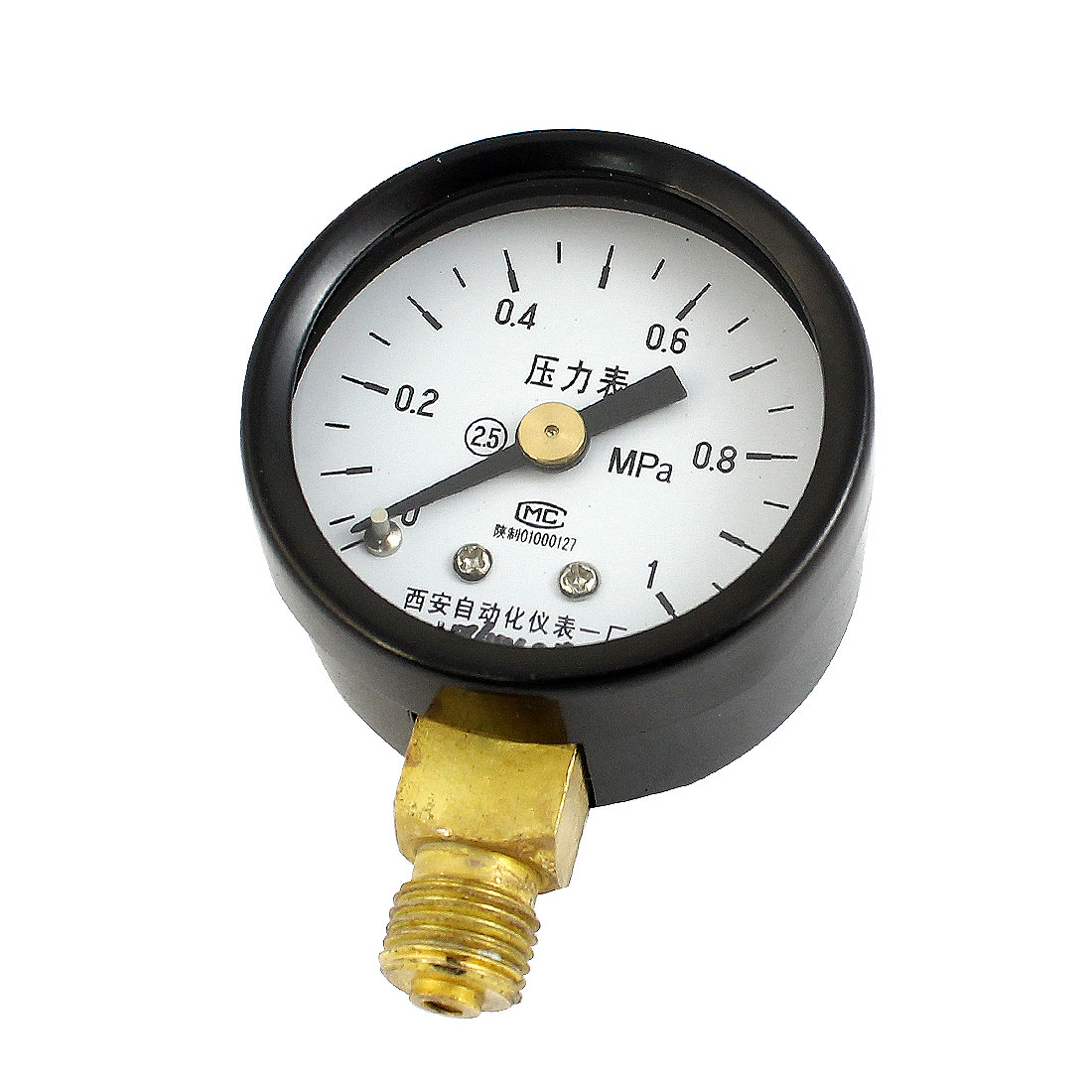 Black Metal Case 1/8PT Male Threaded 0-1Mpa Pneumatic Air Pressure Gauge